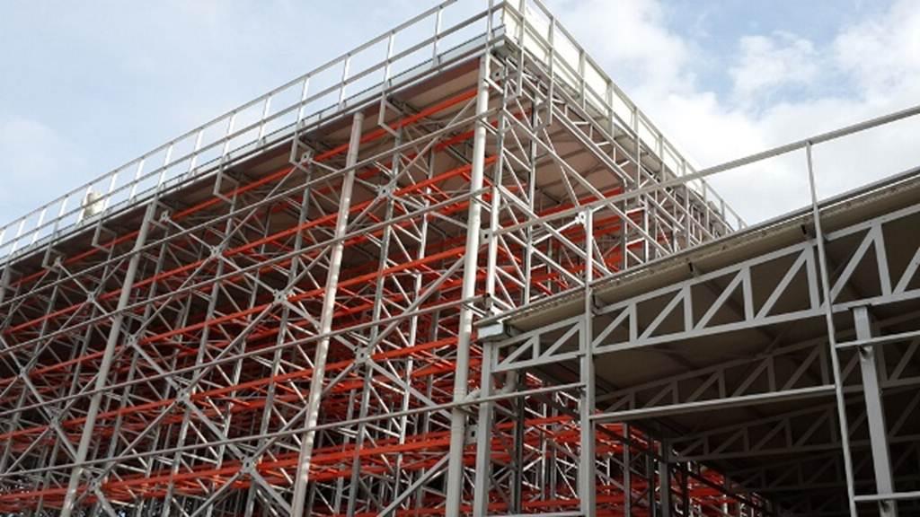 Bina Tipi (Silo - Rack clad ) Dış Giydirme cephe raf sistemleri